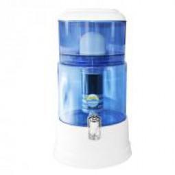 MAUNAWAI® PI®PRIME K8 Wasserfilter System mit Glasbehälter bei Leitungswasserhärte hart und sehr har